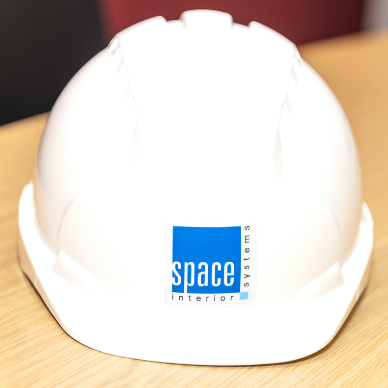 Space interior systems work helmet